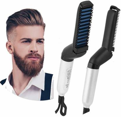 Mobileaddaa Men Quick Beard Hair Straightener (Black)