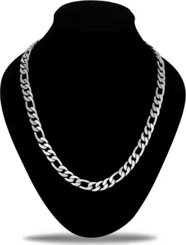 Silver Plated Stainless Steel, Silver, Metal Chain