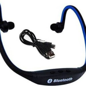 BJOS BS19C Wireless Bluetooth Sports Headset Bluetooth Headset with Mic  (Multicolor, In the Ear) Smart Headphones  (Wireless)